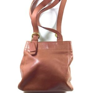 90s Vintage COACH Soho Waverly Brown Leather Tote